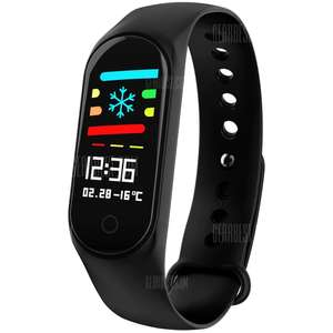 M3 Sports Smart Bracelet Watch Black - Inc Heart Rate Monitor, Blood Pressure Monitor & more £6.88 delivered at Gearbest