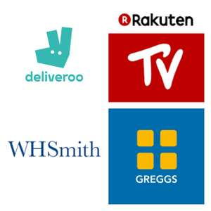 Free Haribo at WHSmith AND £3 off Deliveroo OR £3.50 Rakuten movie rental OR Free Greggs Hot Drink @ Wuntu (for Three customers)