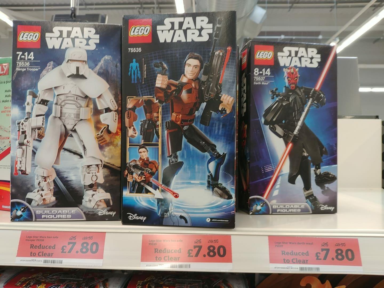 Various lego star wars figures - £7.80 instore @ Sainsburys (Sunderland)