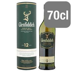 Glenfiddich 12 Year Old Single Malt Scotch Whisky 70Cl - £25 @ Tesco (online and instore)