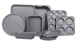 Non-stick Cook and Bakeware Set 9 Piece £10 @ George