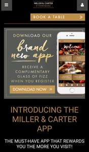 STEAK LOVERS - Miller & Carter new App!!! Collect points and get discounts off