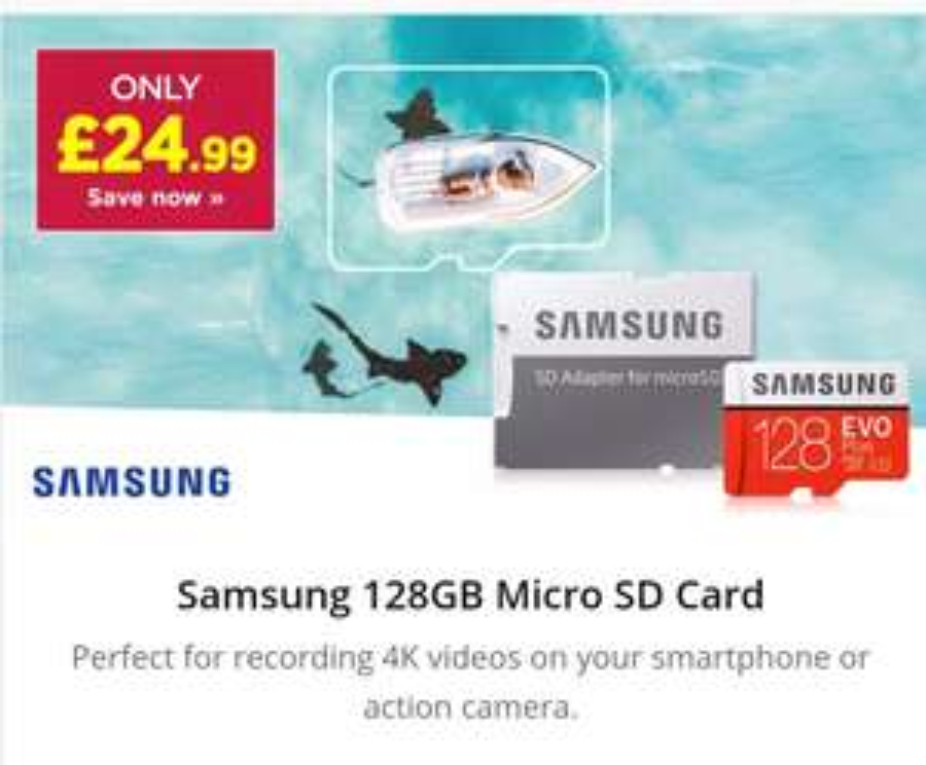 Samsung 128GB Evo Plus Micro SD Card (SDXC) UHS-I U3 + Adapter - 100MB/s £24.99 @ MyMemory