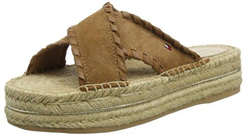 Tommy Hilfiger Women''s Interlace Suede Flatform Sandal Platform size 7 only £24.54 @ Amazon
