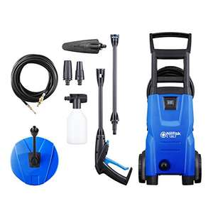 Nilfisk C 120 bar Pressure Washer with Patio Cleaner and Drain Cleaner, Blue £89.99 @ Amazon