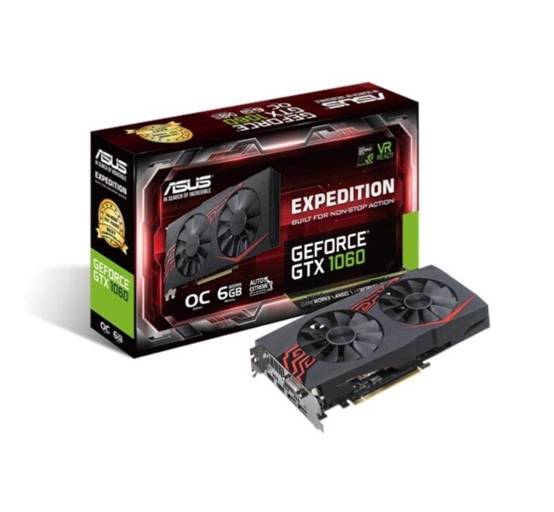 Asus Expedition GeForce GTX 1060 OC edition 6GB GDDR5 Graphics Card £239.99  Ebuyer