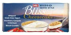 Muller Bliss 4 x 100g cheesecake inspired whipped yoghurts strawberry or salted caramel now £1 @ Asda
