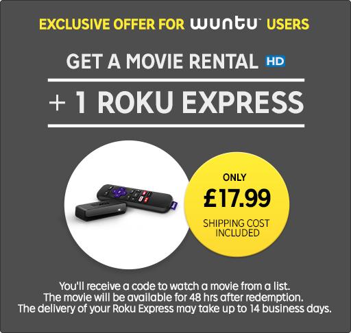 Roku Express + Movie Rental Only £17.99 @ Rakuten TV