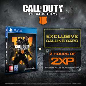 Call of Duty: Black Ops 4 with 2 Hours of 2XP + an Exclusive Calling Card £39.99 @ Amazon prime now (READ DESCRIPTION)