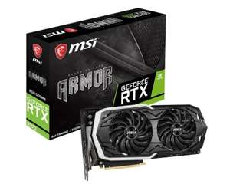 MSI GeForce RTX 2070 ARMOR 8GB Graphics Card £459.99 @ Ebuyer