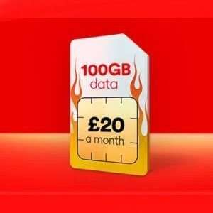 Sim Only offer - 100GB 4G Data, 5000Mins & Texts - £20pm from TOMORROW 18/10 @ Virgin