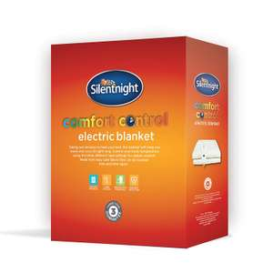 Silentnight Comfort Control Electric Blanket Was £49.99 now £20.79 at Amazon
