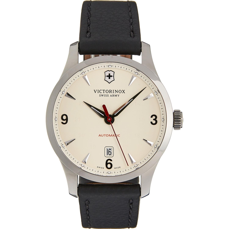 VICTORINOX  Black Leather Alliance Mechanical Automatic Watch £299.99 TK Maxx