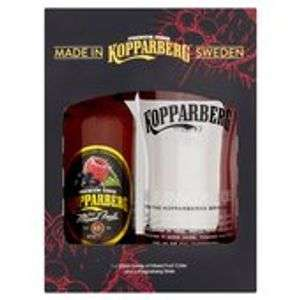 - Kopparberg Mixed Fruits Cider & Glass Gift Set 330ml 2 for £8 @ Morrisons