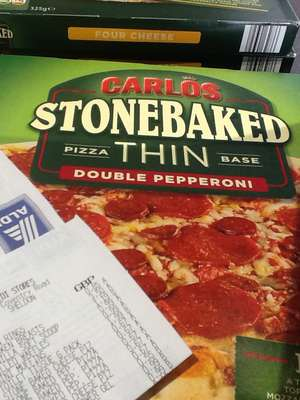 Stone baked pizzas 67p in Aldi