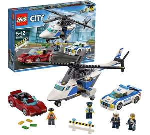 LEGO City Police High Speed Chase Car Helicopter Toy - 60138 £12.99 @ Argos