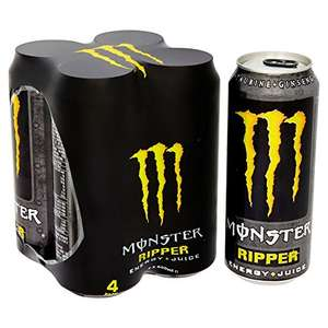 Monster Energy Ripper Plus Juice, 4 x 500 ml - £2.95 @ amazon pantry./ £2.99 delivery for first box