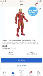 Marvel Titan Hero Series 20inch Iron Man - £8.99 @ Argos eBay