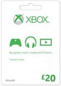 Microsoft Gift Card - £20 (Xbox One/360) £16.99 (or £16.48 with FB code) @ CDKeys