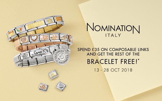 Spend £35 on nomantion and get a free nomination bracelet @ Argento