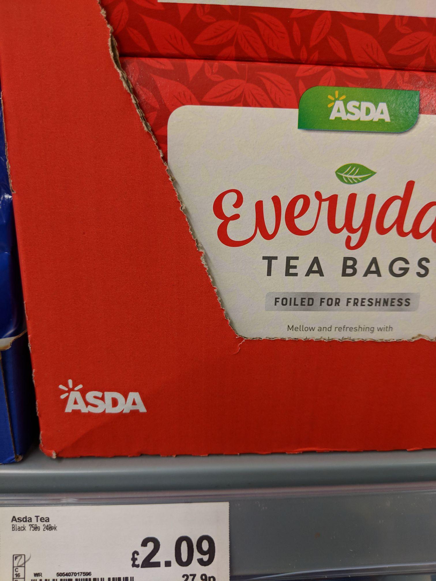 Asda 240 Tea Bags £2.09 @ Asda