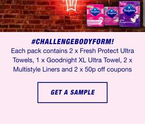 Free Sample With Bodyform