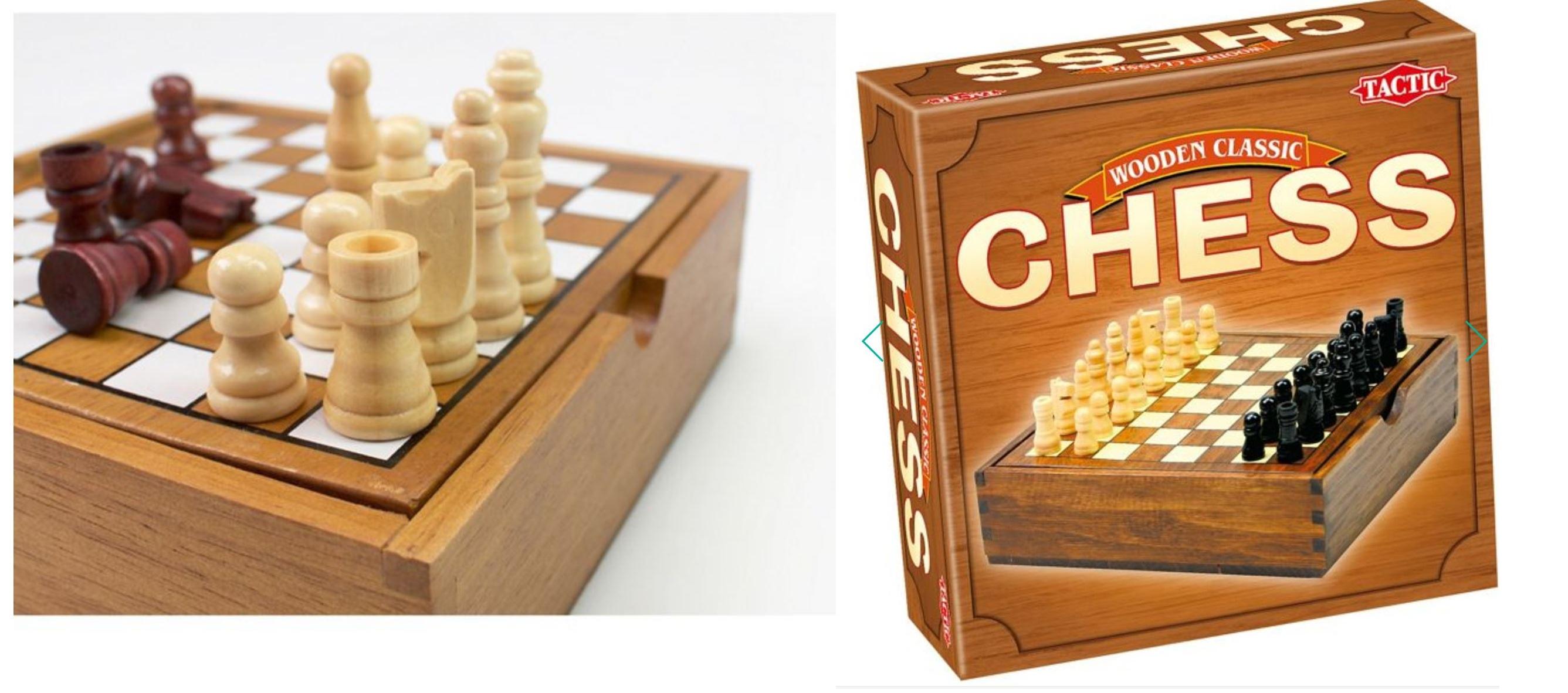 Tactic - Wooden classic chess set for £8 free C&C w/c @ Debenhams