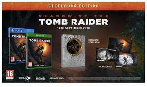 Shadow of the tomb raider (Steelbook Edition) PS4 & Xbox £37.99 GAME