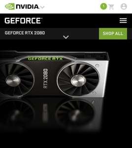Nvidia GeForce RTX 2080 now available to purchase on the official UK Nvidia site - £749