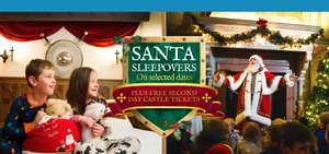 Santa sleepover for 2 adults / 2 children inc breakfast, 2 days castle entry, elf wake up call & Santa story £252 / £63pp @ Warwick Castle