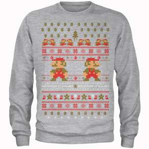 Super Mario Christmas Jumper £18.99 + Free Delivery @ Zavvi