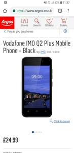 Vodafone IMO Q2  4G smartphone £24.99 no top up required at Argos