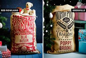 Personalised Christmas Sack - 15 Styles £7.99 + £2.99 P&P @ Wowcher