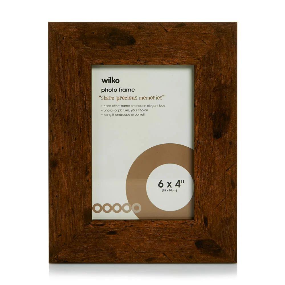 Rustic 'Wooden' Photo Frame 6x4 Inch £2 @ Wilko - Free c&c