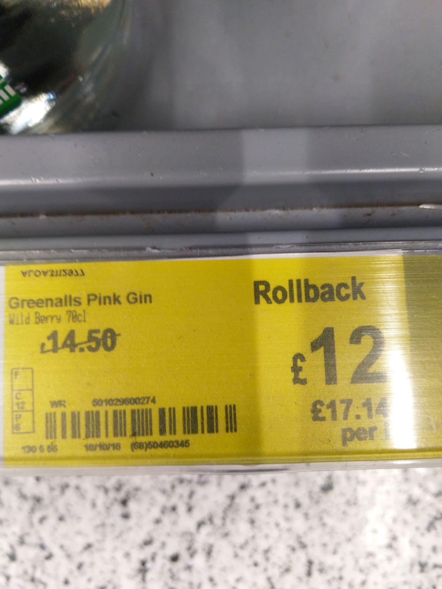 Greenalls Pink wildberry gin 70cl £12 @ Asda