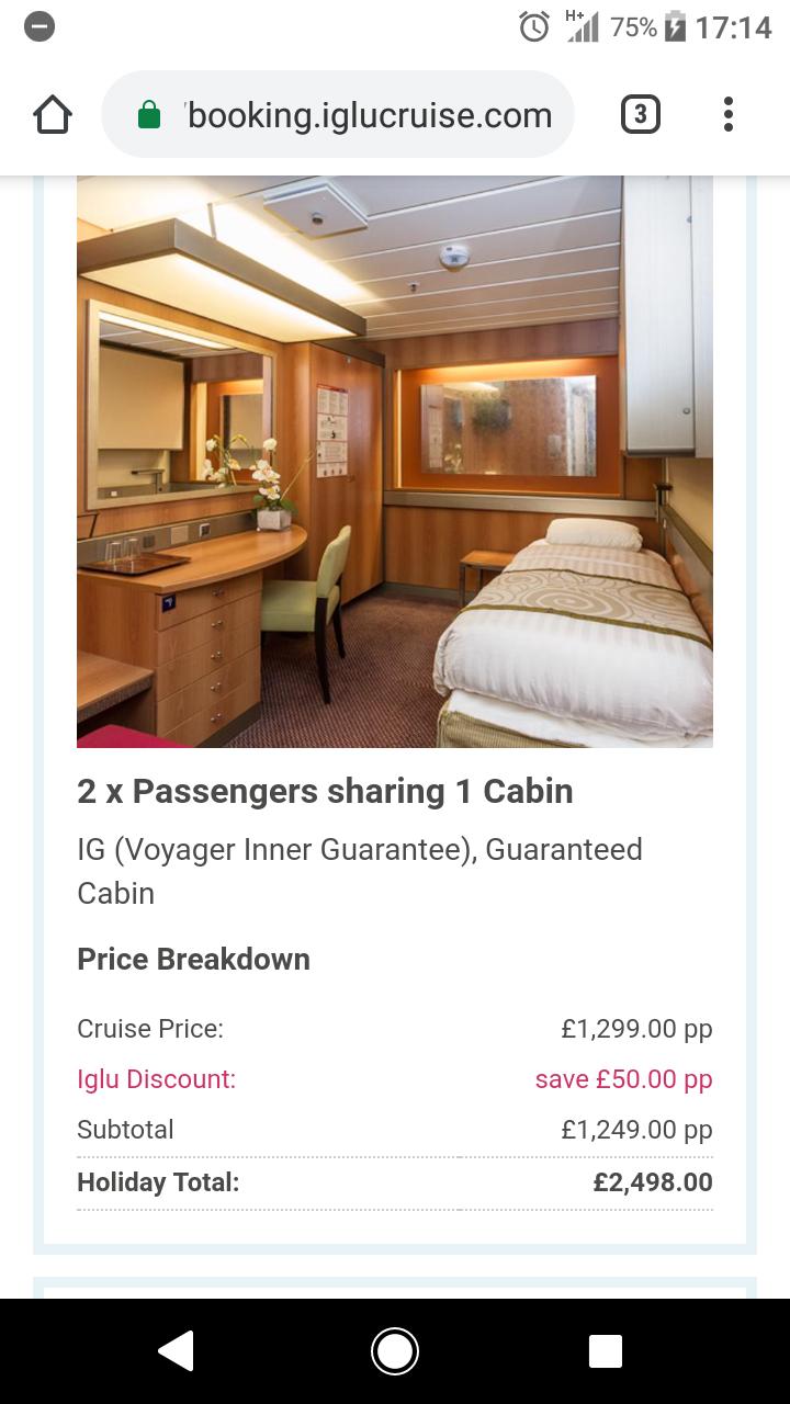 33 Night Cruise just £1249pp @ Iglu Cruise