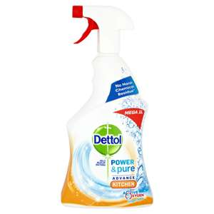 Dettol Power And Pure Kitchen 1L for £1.80 Free C&C @Wilko
