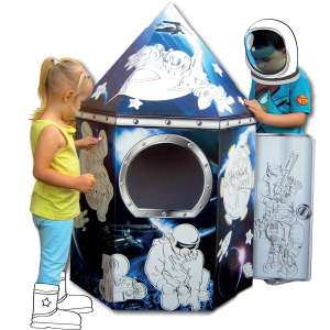 Colour in cardboard playhouse. Rocket. Shop. Fairy House - £8.50 @ Hobbycraft