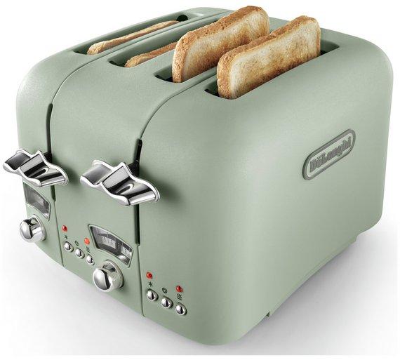 De'Longhi CTO4 Argento Flora 4 Slice Toaster - Green - £29.99 + Free C&C @ Argos