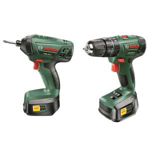 Bosch PSB 1800 LI-2 Combi Drill and PDR 18 LI Impact Driver Twin Pack £125 @ Costco
