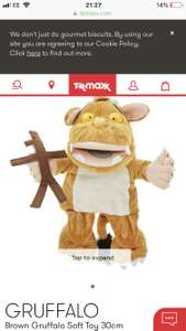 Gruffalo's child 30cm plush £9.99 at T K Maxx £1.99 click and collect