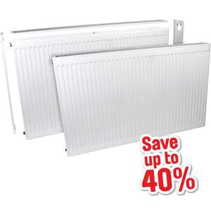 40% off Barlo Delta Compact Type 22 Double Panel' Double Convector Radiator 600x1200mm was £79.98 now £47.98 @ Toolstation C&C