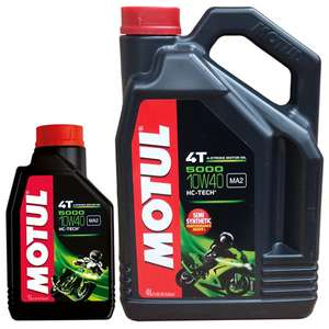 Motul 5000 10W-40 4 Stroke Oil 5L £24.50 @ Sports Bike Shop