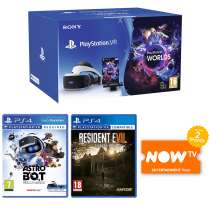 PlayStation VR Starter Pack + Astro Bot Rescue Mission + Resident Evil 7 Biohazard + NOW TV 2 Months Entertainment Pass £199.99 @ Game