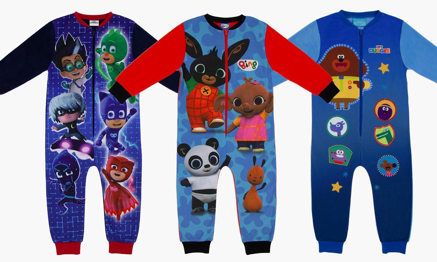 Toddler's Fleece Onesies - Paw Patrol, PJ Masks and more £6.99 + £1.99 Del @ Groupon