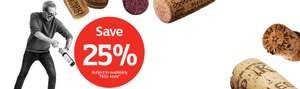 Buy 6 or more bottles save 25% on wine at Sainsburys starts Wed 24th Oct stock up for Christmas