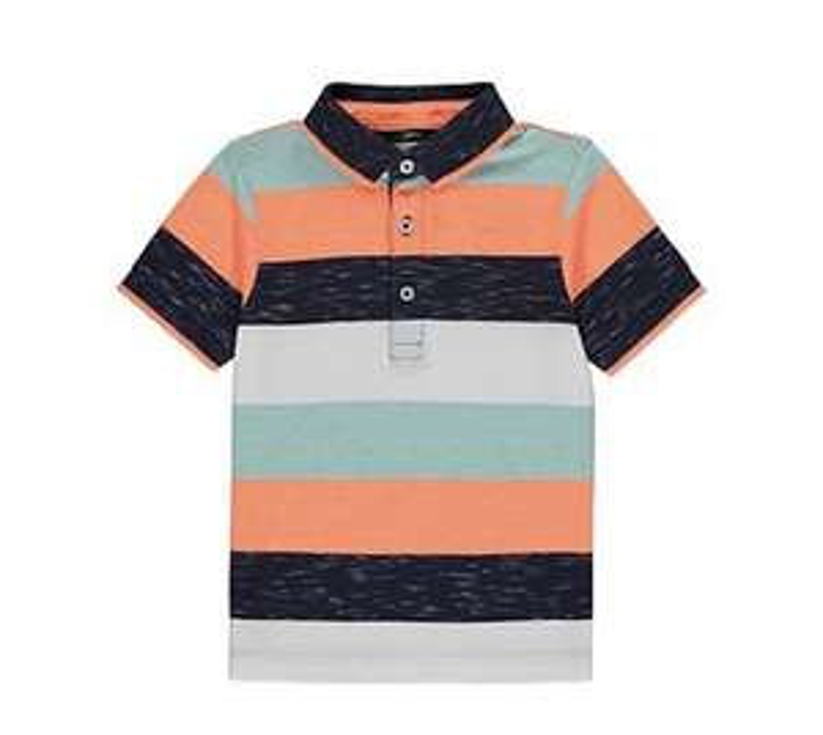 Striped Polo Shirt boys £2 @ Asda free c+c