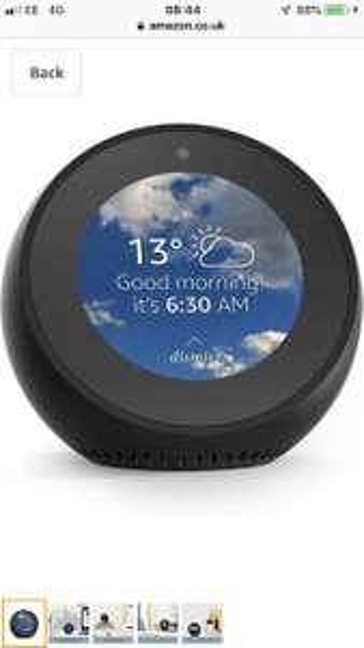 Amazon Echo Spot Smart Speaker with Alexa and Screen - £99.99 @ Amazon