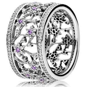 PANDORA SILVER CUBIC ZIRCONIA FORGET ME NOT RING at The Jewel Hut for £56