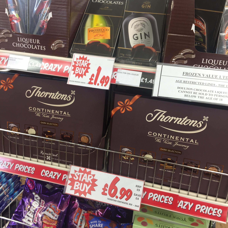 Thornton's big box dark continentals 284g - £6.99 @ Fulton Foods
